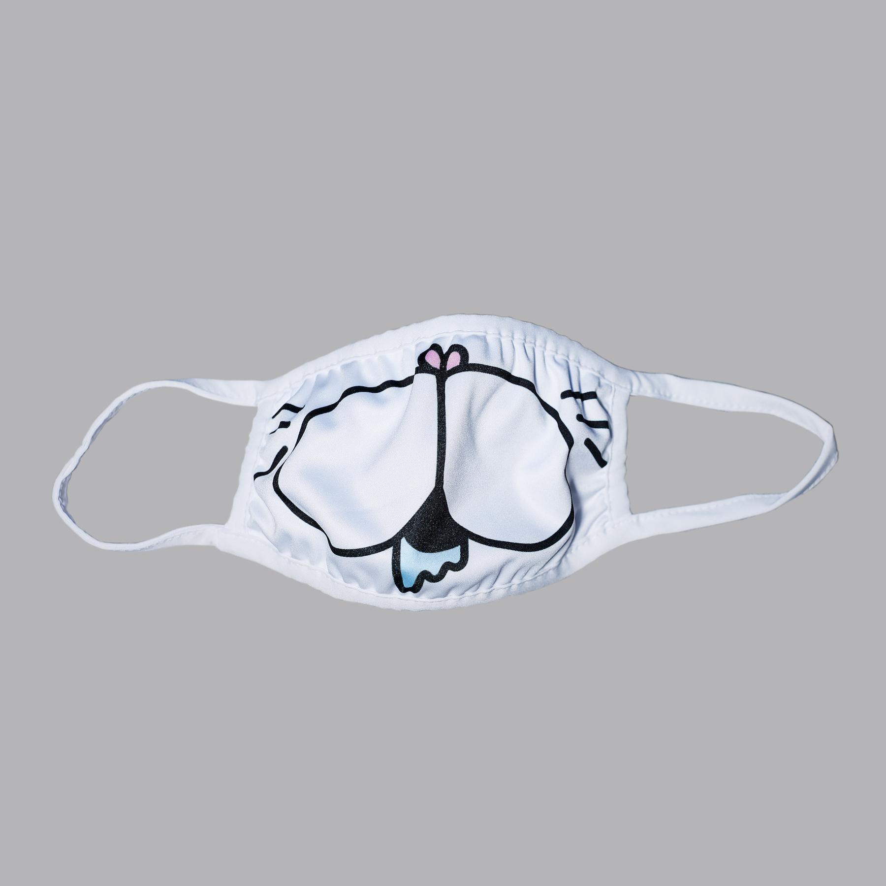 君もよだれを垂らした猫になるんやでマスク